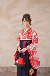 卒業式袴姿写真
