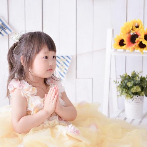 七五三 記念日 3歳 女の子 ドレス