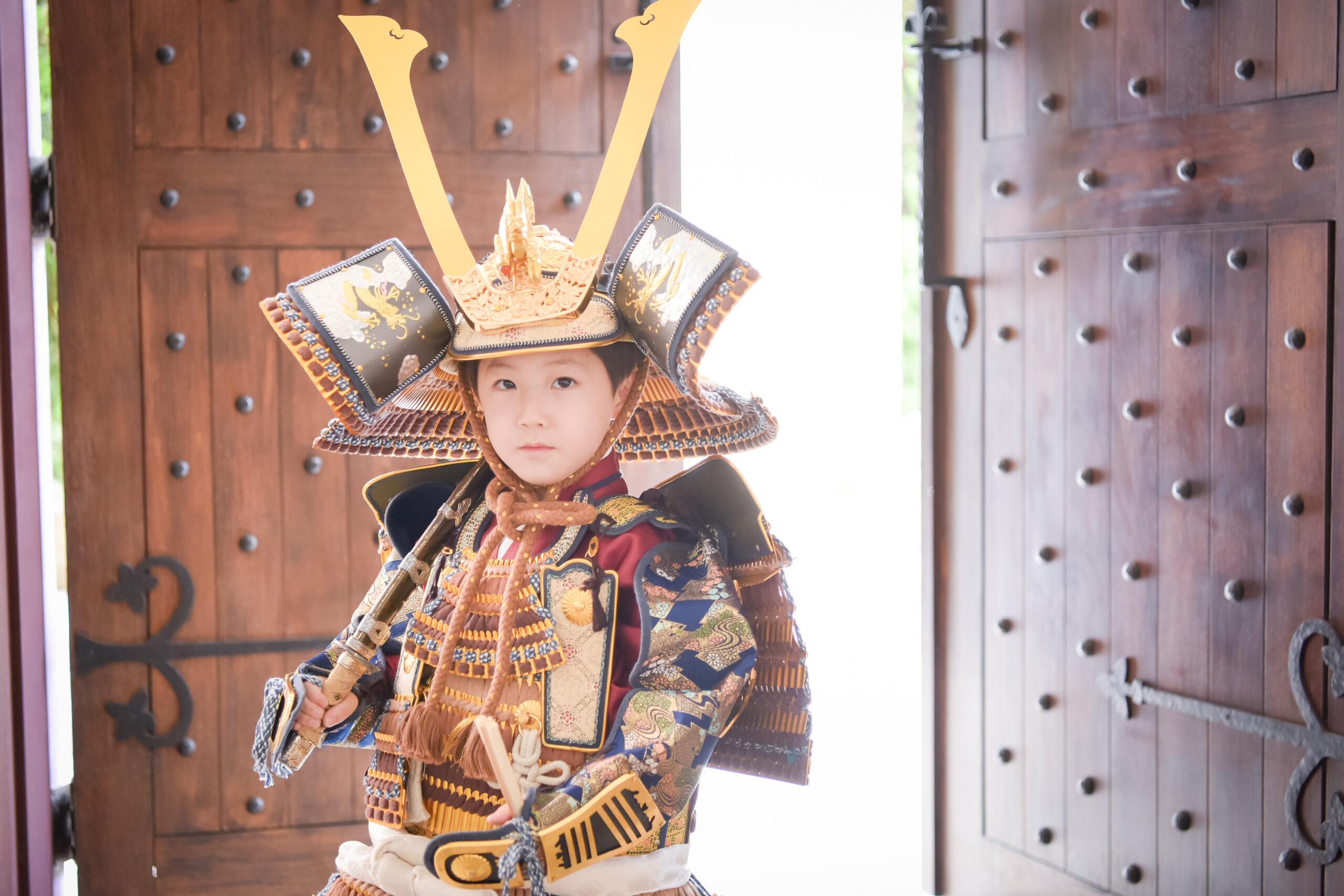 5歳 七五三 ロケーション撮影 753 絹屋 熊谷 フォトスタジオ 写真館 兜